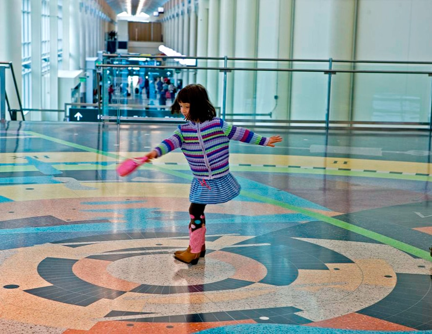 Annika at play at the Minneapolis-St. Paul International Airport by John Wagner